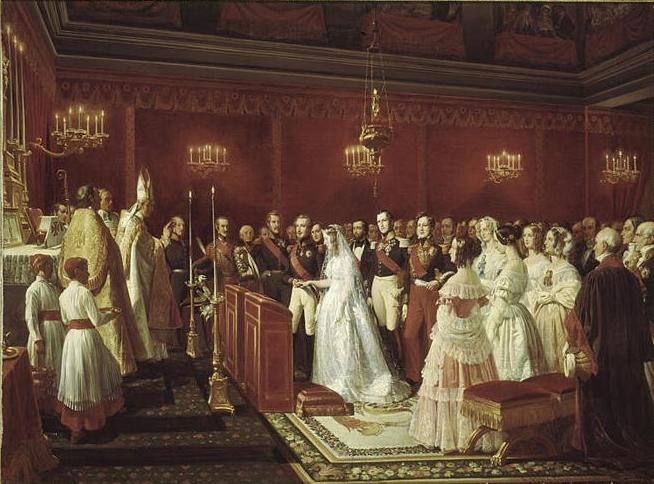Marriage_of_the_Duke_of_Nemours_to_Princess_Victoria_of_Saxe-Coburg_and_Gotha_at_Saint_Cloud_by_Henri_Félix_Emmanuel_Philippoteaux