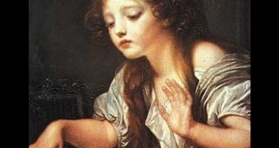 Jean-Baptiste Greuze  Young Girl Weeping for her Dead Bird 1759